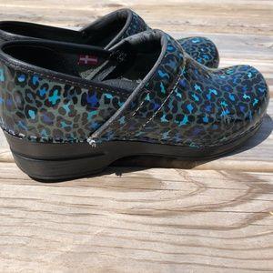 Sanita Shoes - Sanita Mules Clogs Shoes 38 Cheetah Aqua Blue